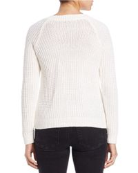 Lord & Taylor | White Cable Knit Sweater | Lyst