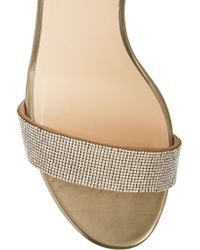 Valentino | Crystal-embellished Metallic Leather Sandals | Lyst