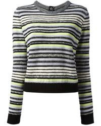 Proenza Schouler | Multicolor Cropped Striped Sweater | Lyst