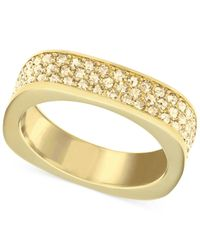 Swarovski | Metallic Crystal Pavé Square Ring | Lyst