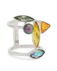 Ca&Lou | Multicolor Elsa Swarovski Crystal Ring | Lyst