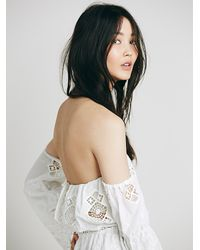 Free People - White Stone Cold Fox Womens Aden Romper - Lyst
