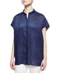 Lafayette 148 New York | Blue Liandra Gemma Kimono Short-sleeve Top | Lyst