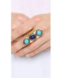 Sam Edelman - 3 Stone Vertical Ring - Blue Multi - Lyst