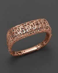 Roberto Coin Metallic 18K Rose Gold Plated Sterling Silver Skyline Bangle