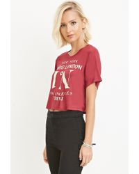 Forever 21 | Purple Cities Graphic Tee | Lyst