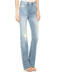 3x1 - Blue W4 High Rise Flare Jeans - Hope - Lyst