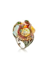 Lydia Courteille | Multicolor One Of A Kind Gardens Of Xochimilco Ring | Lyst