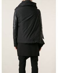 Rick Owens - Black Asymmetric Wrap Gilet for Men - Lyst