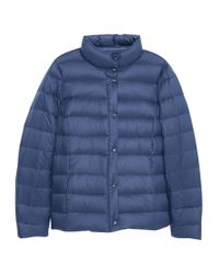 Violeta by Mango Blue Quilted Coat