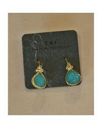 Tai | Blue Mint Drop Earring | Lyst
