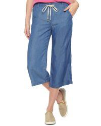 Splendid Blue Indigo Culotte Pant