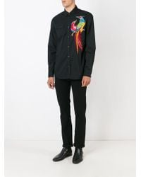 DSquared² - Black Embroidered Shirt for Men - Lyst