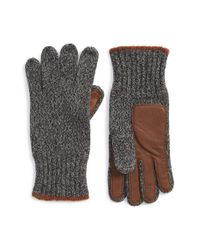 Polo Ralph Lauren | Gray Ragg Wool Knit Gloves for Men | Lyst