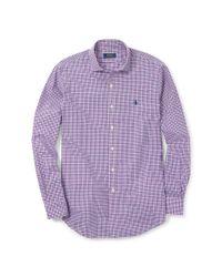 Polo Ralph Lauren | Purple Estate Slim-fit Poplin Shirt for Men | Lyst