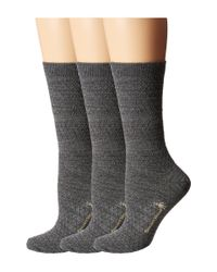 Smartwool | Gray Texture Crew 3-pack | Lyst