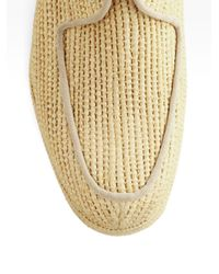 Carven - Brown Clergerie Woven Raffia Wedge Oxfords - Lyst