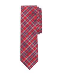 Brooks Brothers | Red Tartan Slim Tie for Men | Lyst