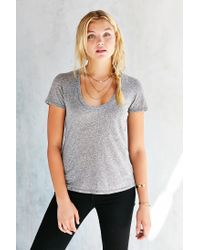 Truly Madly Deeply - Gray Naomi Scoop Neck Tee - Lyst