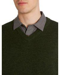 Howick | Green Arlington 100% Lambswool Vee Neck Tank Jumper for Men | Lyst