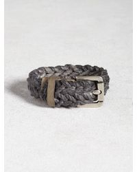 John Varvatos | Gray Braided Cuff for Men | Lyst