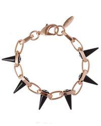 Joomi Lim - Metallic Rose Goldtone Single Row Black Out Bracelet - Lyst