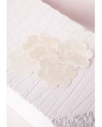 Missguided | Natural Lace Detailed Nipple Covers | Lyst