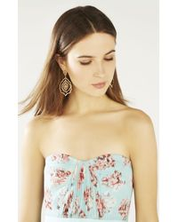 BCBGMAXAZRIA - Multicolor Pave Floral Statement Earrings - Lyst