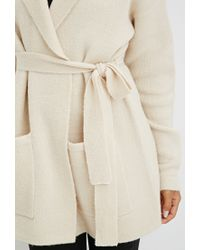 Forever 21 | Natural Belted Open-front Cardigan | Lyst