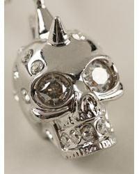 Alexander McQueen Metallic Skull Pendant Necklace