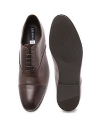 Fratelli Rossetti Brown Nappa Cap Toe Oxfords with Rubber Sole for men