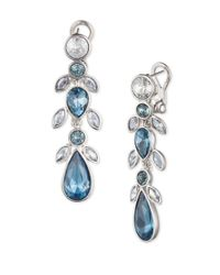 Givenchy | Blue Drama Linear Crystal Drop Earrings | Lyst