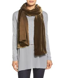 Eileen Fisher | Brown Velvet Wrap | Lyst