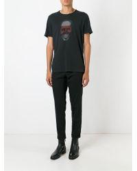 John Varvatos Black Skull Print T-shirt for men