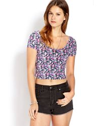 Forever 21 Blue Sweet Thing Crop Top
