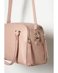Forever 21 Pink Double-zip Faux Leather Satchel