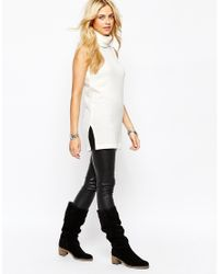 Fashion Union | Natural Sleeveless Roll Neck Tunic | Lyst