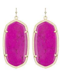 Kendra Scott | Purple Danielle Earrings, Magenta | Lyst