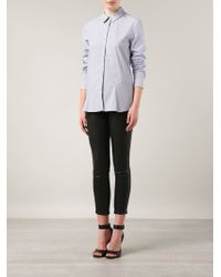 Thakoon Addition - Gray Striped Open Back Shirt - Lyst