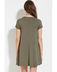 Forever 21 Green A-line T-shirt Dress