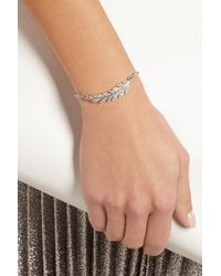 Carolina Bucci - Metallic Lucky 18karat White Gold Silk and Diamond Feather Bracelet - Lyst