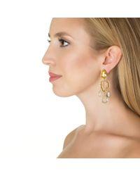 Bounkit | Metallic Lemon Quartz Chandelier Earrings | Lyst