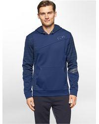 Calvin Klein - Blue White Label Performance Space Dye Fleece Hoodie - Lyst