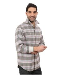 Tommy Bahama Gray Flannel Time! Plaid Long Sleeve for men