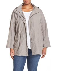 Eileen Fisher | Gray Cotton Steel Jacket | Lyst