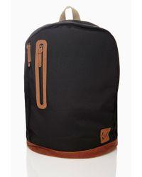 Forever 21 Black Men Paneled Backpack for men
