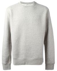 Acne Studios | Gray 'corben' Sweatshirt for Men | Lyst