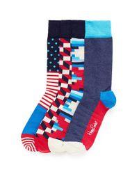 Happy Socks - Multicolor Gift 4-pair Socks Set for Men - Lyst