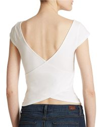 Guess | White Cross Back Top | Lyst