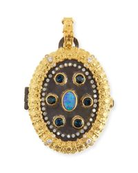 Armenta | Blue Old World Carved Locket | Lyst
